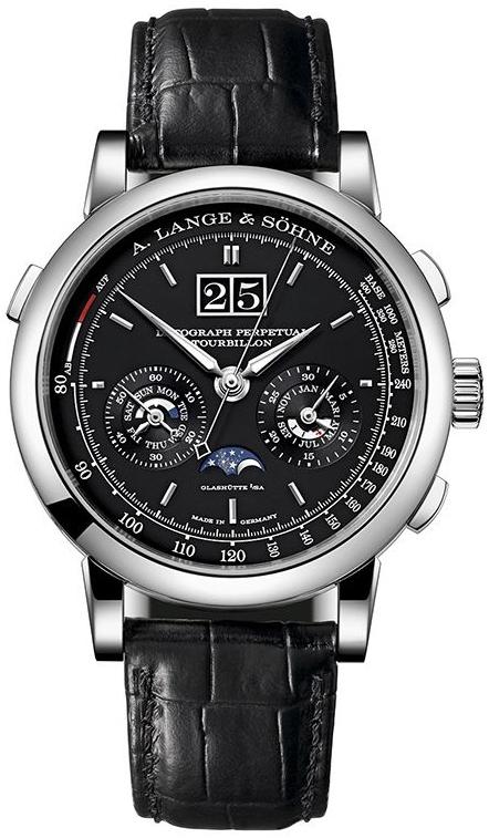 A. Lange & Söhne Saxonia Herreklokke 740.036 Sort/Lær Ø42 mm - A. Lange & Söhne