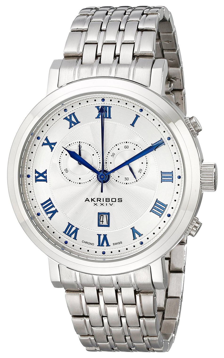 Akribos XXIV Chronograph Herreklokke AK590SS Sølvfarget/Stål Ø46 mm - Akribos XXIV