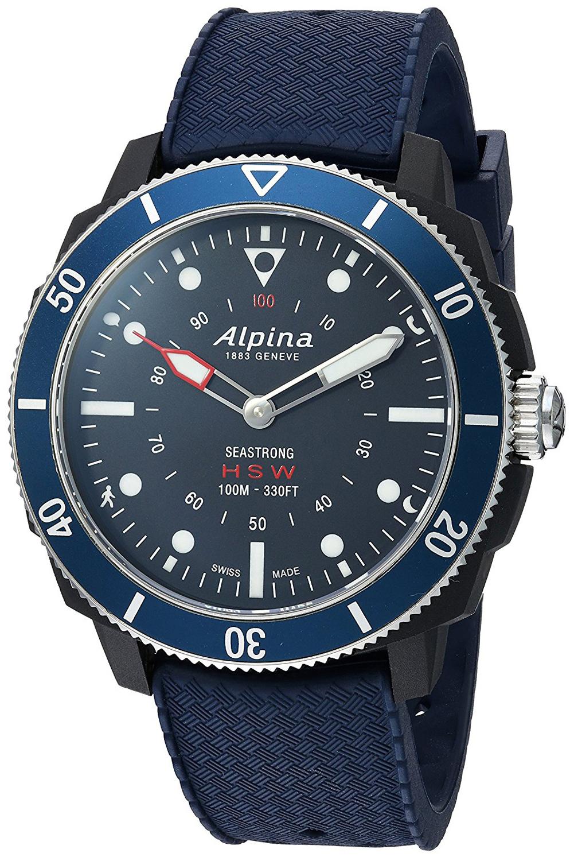 Alpina Horological Smartwatch Herreklokke AL-282LNN4V6 Blå/Gummi - Alpina