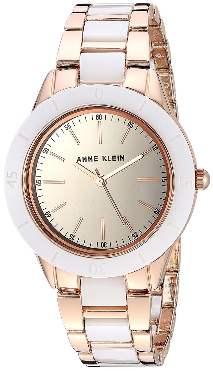 Anne Klein Bracelet Dameklokke AK/3160WTRG Sølvfarget/Rose-gulltonet - Anne Klein