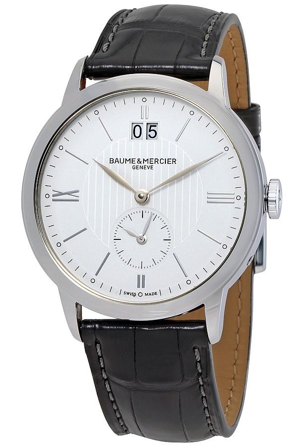 Baume & Mercier Classima Herreklokke M0A10218 Sølvfarget/Lær - Baume & Mercier