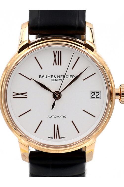 Baume & Mercier Classima Dameklokke M0A10270 Hvit/Lær Ø31 mm - Baume & Mercier