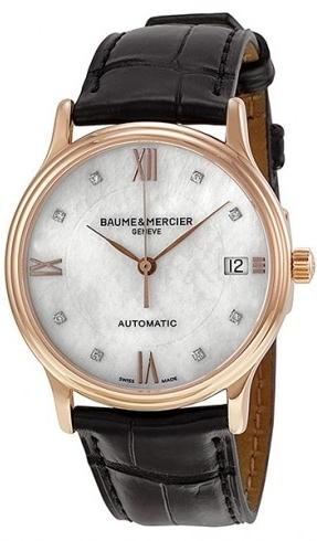 Baume & Mercier CLASSIMA Herreklokke MOA10077 Sølvfarget/Lær - Baume & Mercier