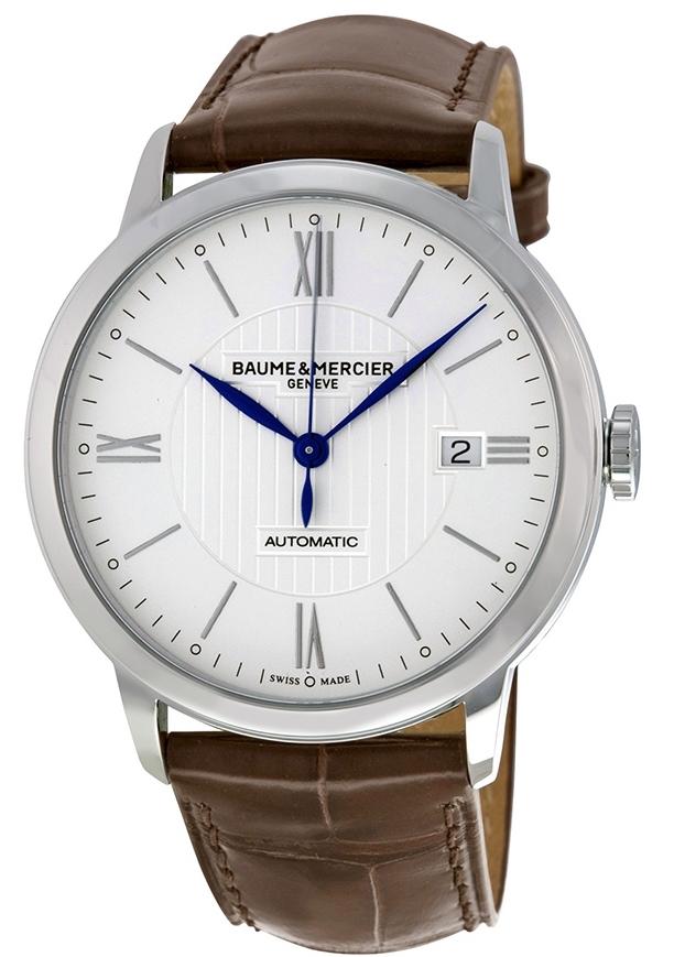 Baume & Mercier Classima Herreklokke MOA10214 Sølvfarget/Lær - Baume & Mercier