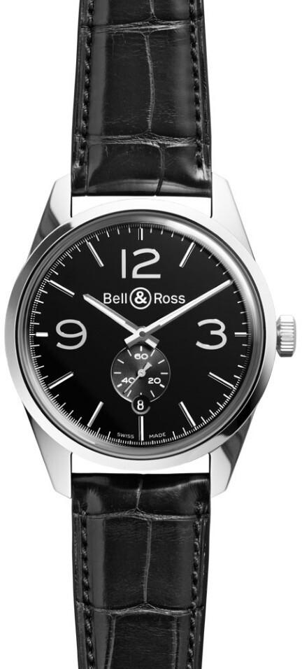 Bell & Ross BR 123 Herreklokke BRG123-BL-ST-SCR Sort/Lær Ø41 mm - Bell & Ross