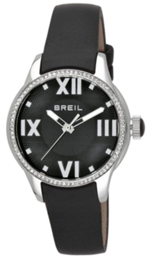 Breil Globe Herreklokke TW0782 Sort/Lær Ø36 mm - Breil
