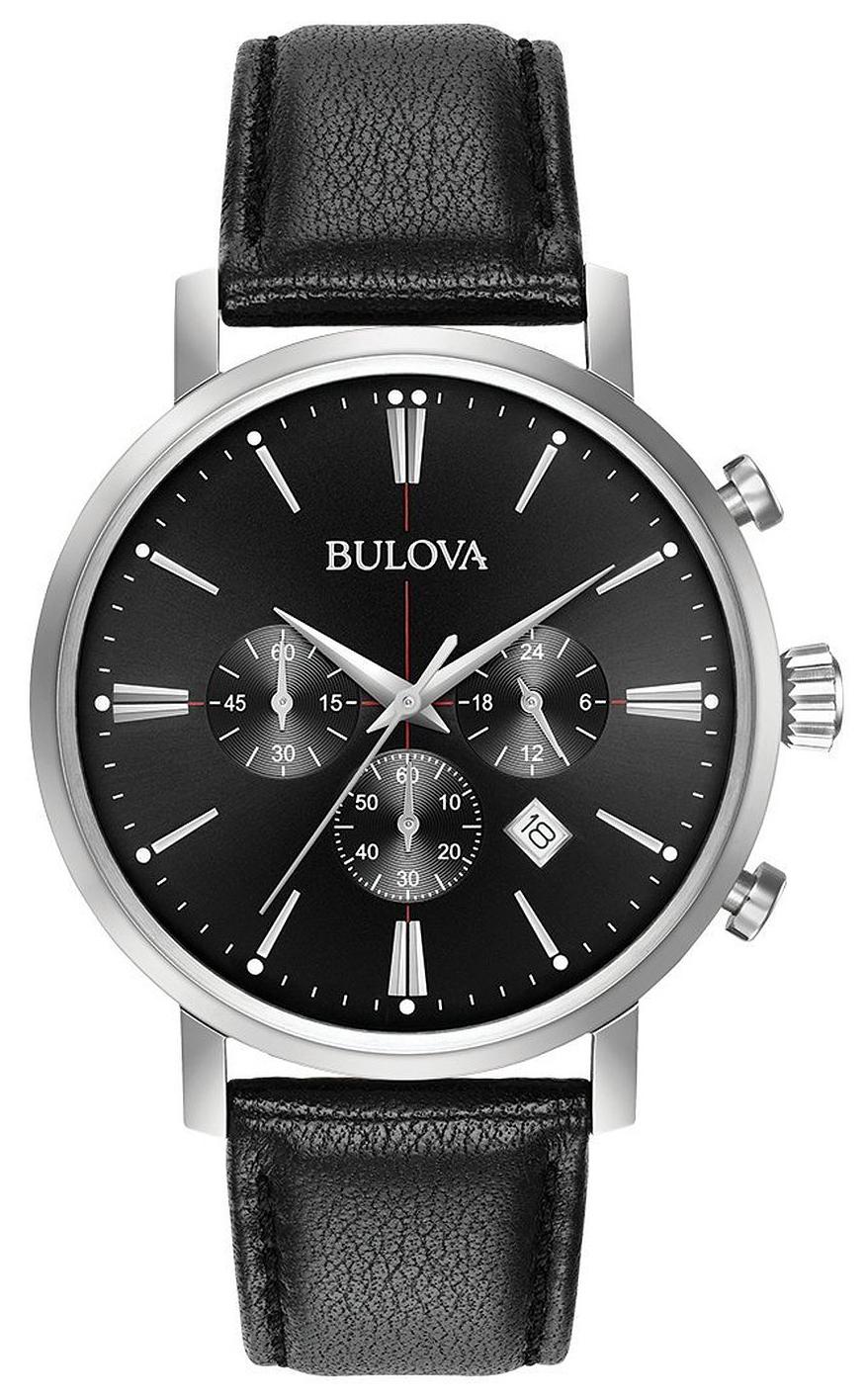 Bulova 99999 Herreklokke 96B262 Sort/Lær Ø41 mm - Bulova