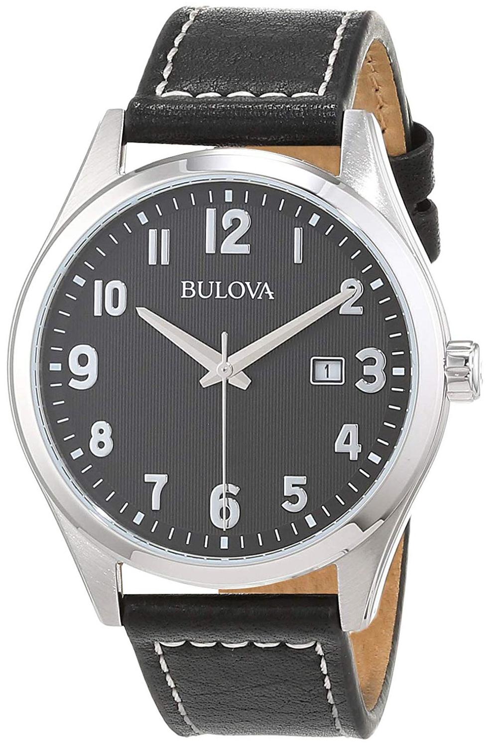 Bulova Classic Herreklokke 96B299 Sort/Lær Ø41 mm - Bulova