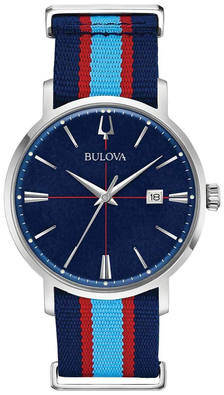 Bulova Classic Herreklokke 96B315 Blå/Tekstil Ø39 mm - Bulova