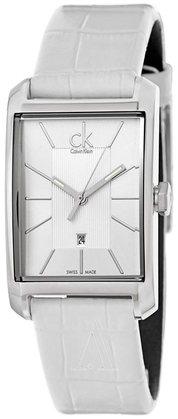 Calvin Klein Window Dameklokke K2M23120 Sølvfarget/Lær - Calvin Klein