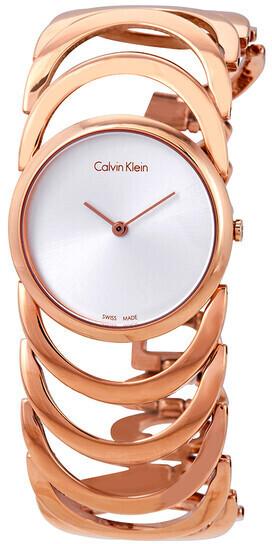 Calvin Klein Body Dameklokke K4G23626 Sølvfarget/Rose-gulltonet - Calvin Klein