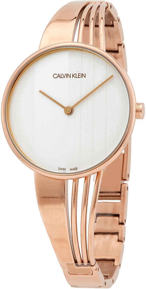 Calvin Klein 99999 Dameklokke K6S2N616 Hvit/Rose-gulltonet stål Ø34 - Calvin Klein