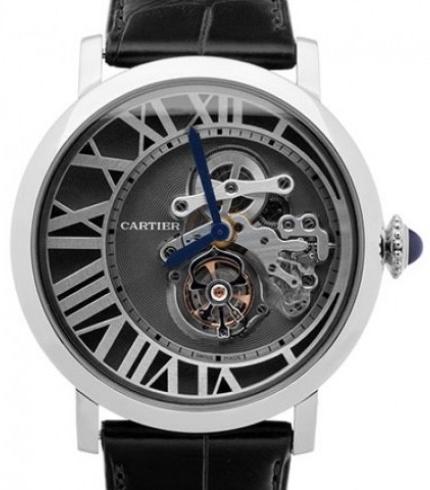 Cartier Rotonde De Cartier Herreklokke W1556214 Grå/Lær Ø46.2 mm - Cartier