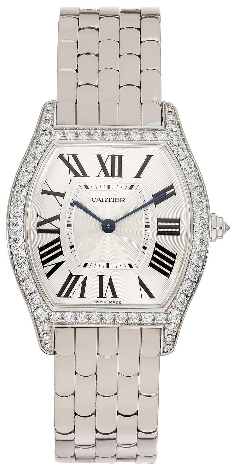 Cartier Tortue Dameklokke WA501013 Sølvfarget/18 karat hvitt gull - Cartier