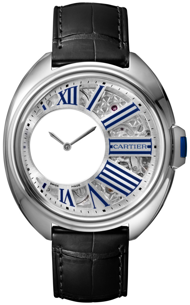 Cartier Cle De Cartier Herreklokke WHCL0003 Skjelettkuttet/Lær Ø41 - Cartier