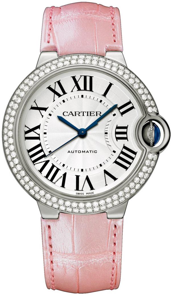 Cartier Ballon Bleu De Cartier Dameklokke WJBB0011 Sølvfarget/Lær - Cartier