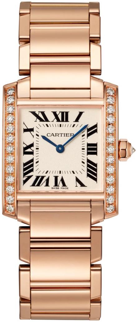 Cartier Tank Francaise Dameklokke WJTA0023 Sølvfarget/18 karat rosé - Cartier