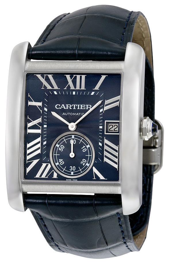Cartier Tank MC Herreklokke WSTA0010 Blå/Lær - Cartier