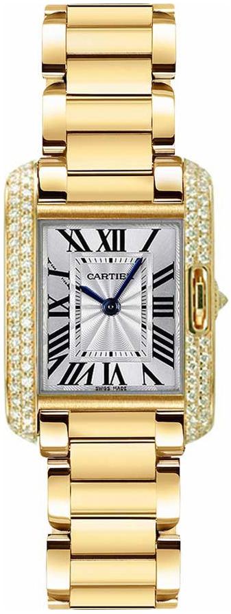 Cartier Tank Anglaise Dameklokke WT100005 Sølvfarget/18 karat gult - Cartier
