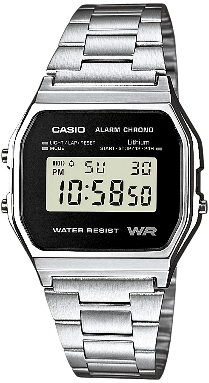 Casio Casio Collection Herreklokke A158WEA-1EF Stål 36.8x33.2 mm - Casio