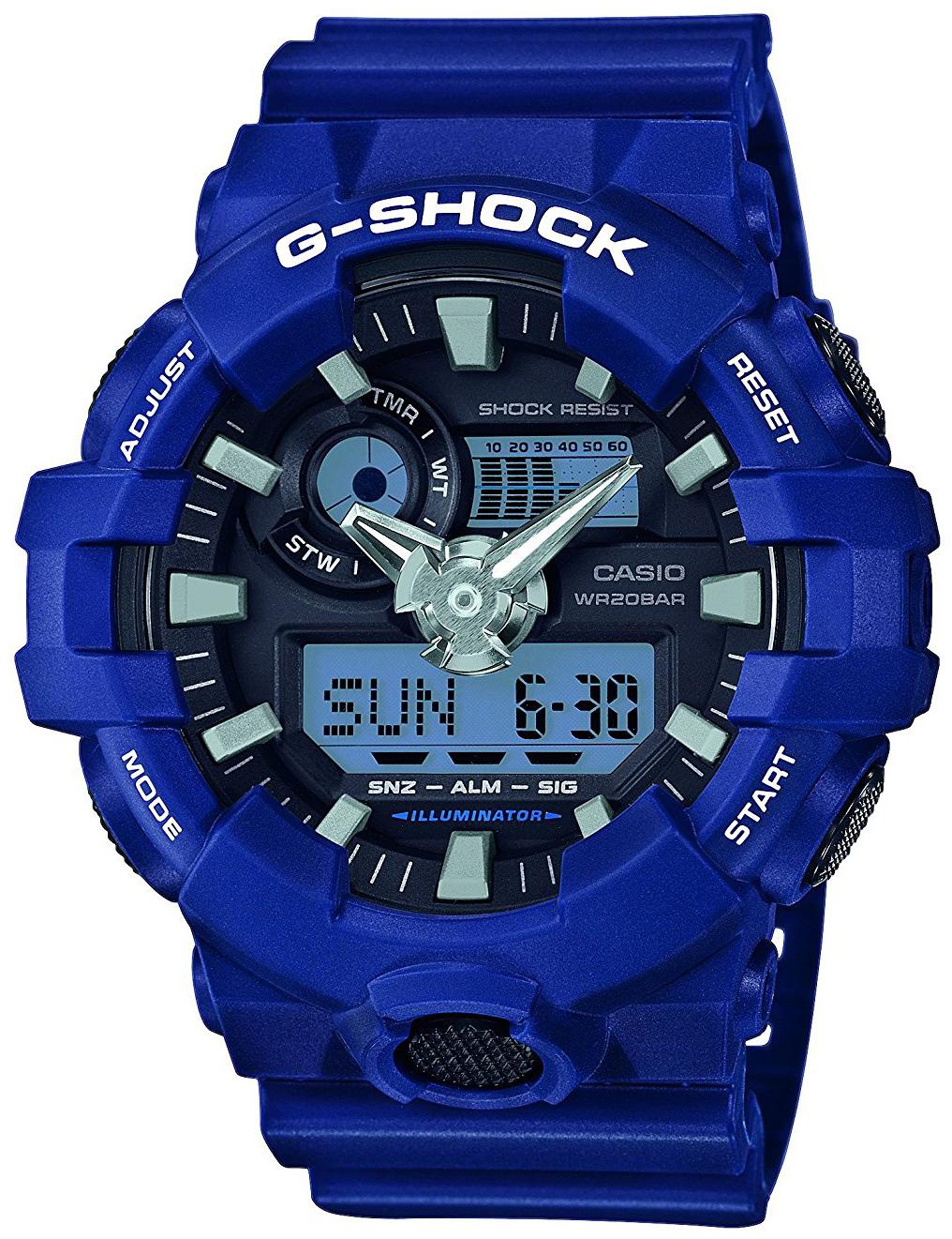 Casio G-Shock Herreklokke GA-700-2AER Sort/Resinplast Ø53.4 mm - Casio