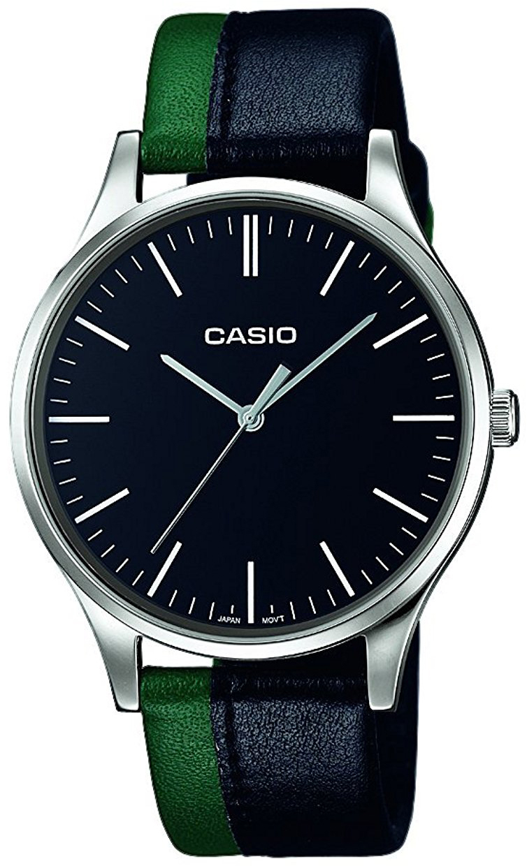 Casio Casio Collection Herreklokke MTP-E133L-1EEF Sort/Lær Ø46 mm - Casio