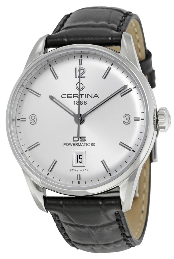Certina Automatik DS Herreklokke C026.407.16.037.00 Sølvfarget/Lær - Certina