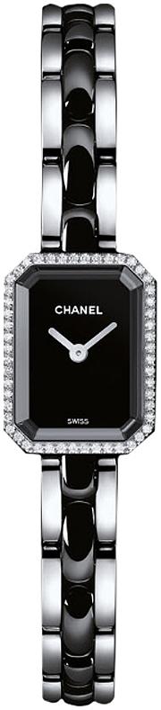 Chanel Premiere Dameklokke H2163 Sort/Keramik 15x19.5 mm - Chanel