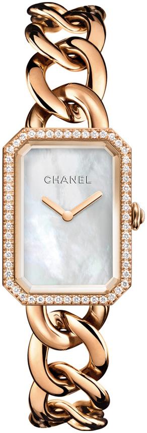 Chanel Premiere Dameklokke H4412 Hvit/18 karat rosé gull - Chanel