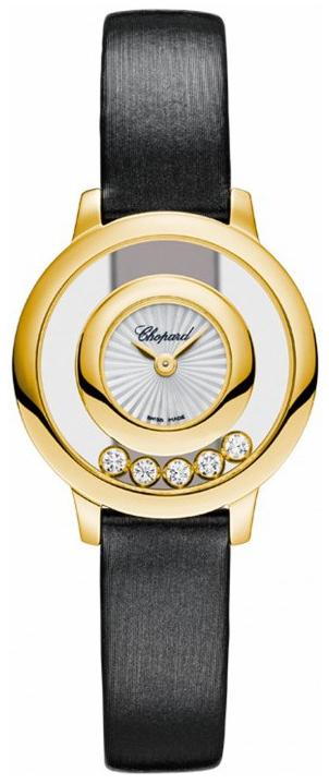 Chopard Happy Diamonds Dameklokke 209417-0001 Sølvfarget/Sateng Ø25 - Chopard