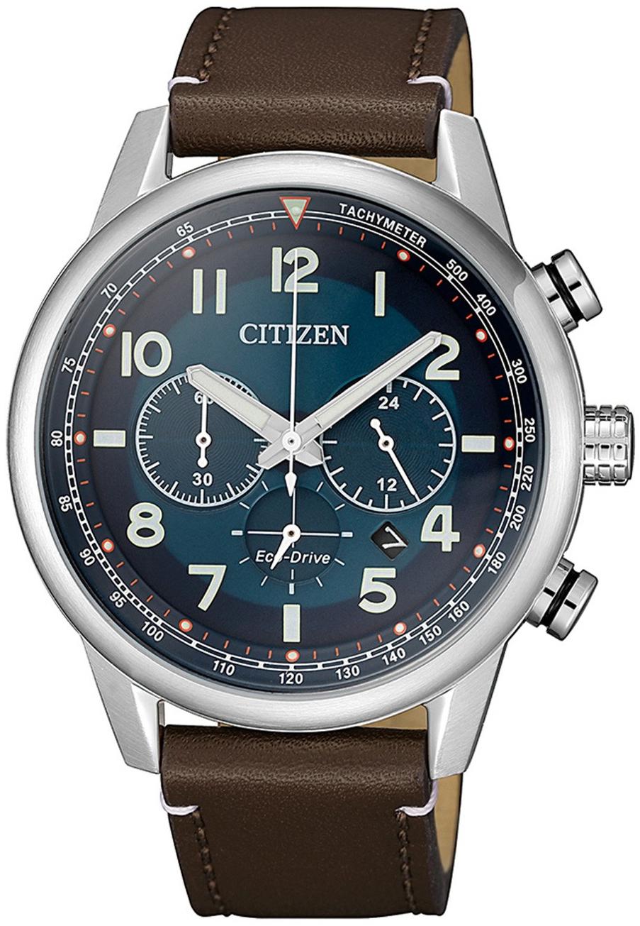 Citizen 99999 Herreklokke CA4420-13L Blå/Lær Ø43 mm - Citizen