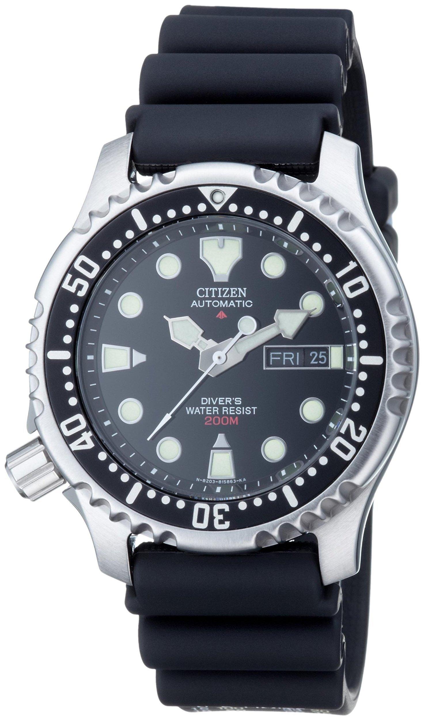 Citizen Promaster Sea Herreklokke NY0040-09EE Sort/Gummi Ø43 mm - Citizen