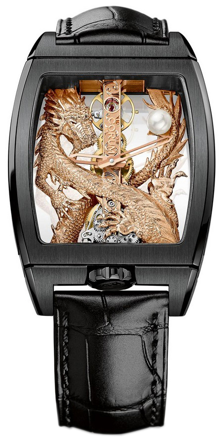 Corum Dragon Herreklokke 113.265.95-0001 GD55R Skjelettkuttet/Lær - Corum