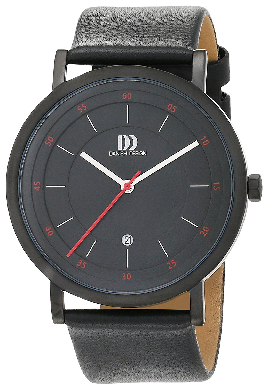 Danish Design Classic Herreklokke 3314527 Sort/Lær Ø42 mm - Danish Design