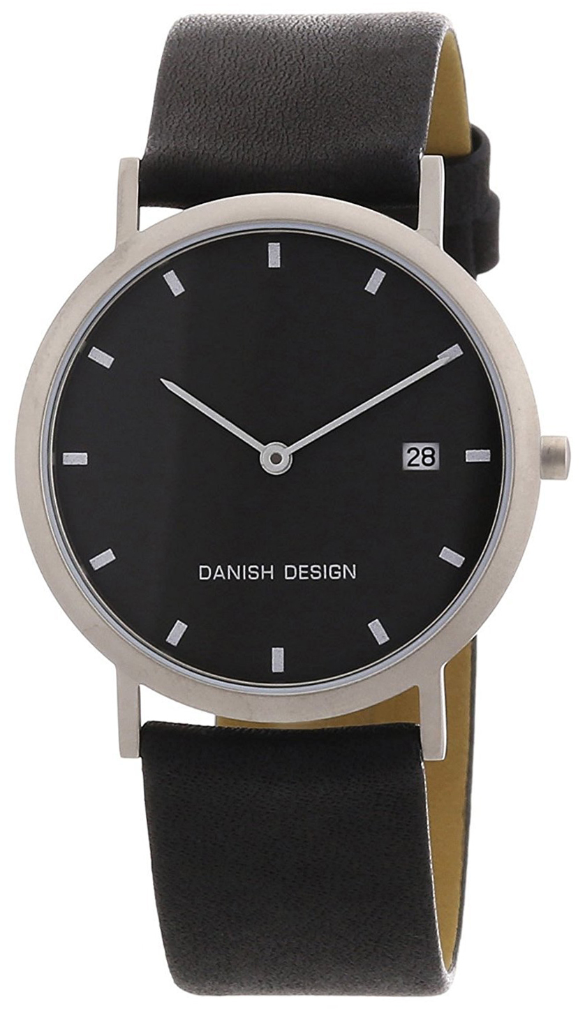 Danish Design Classic Herreklokke 3316110 Sort/Lær Ø37 mm - Danish Design