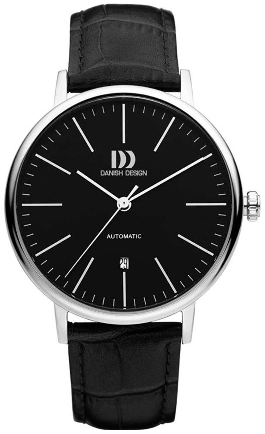 Danish Design Dress Herreklokke IQ13Q1074 Sort/Lær Ø42 mm - Danish Design