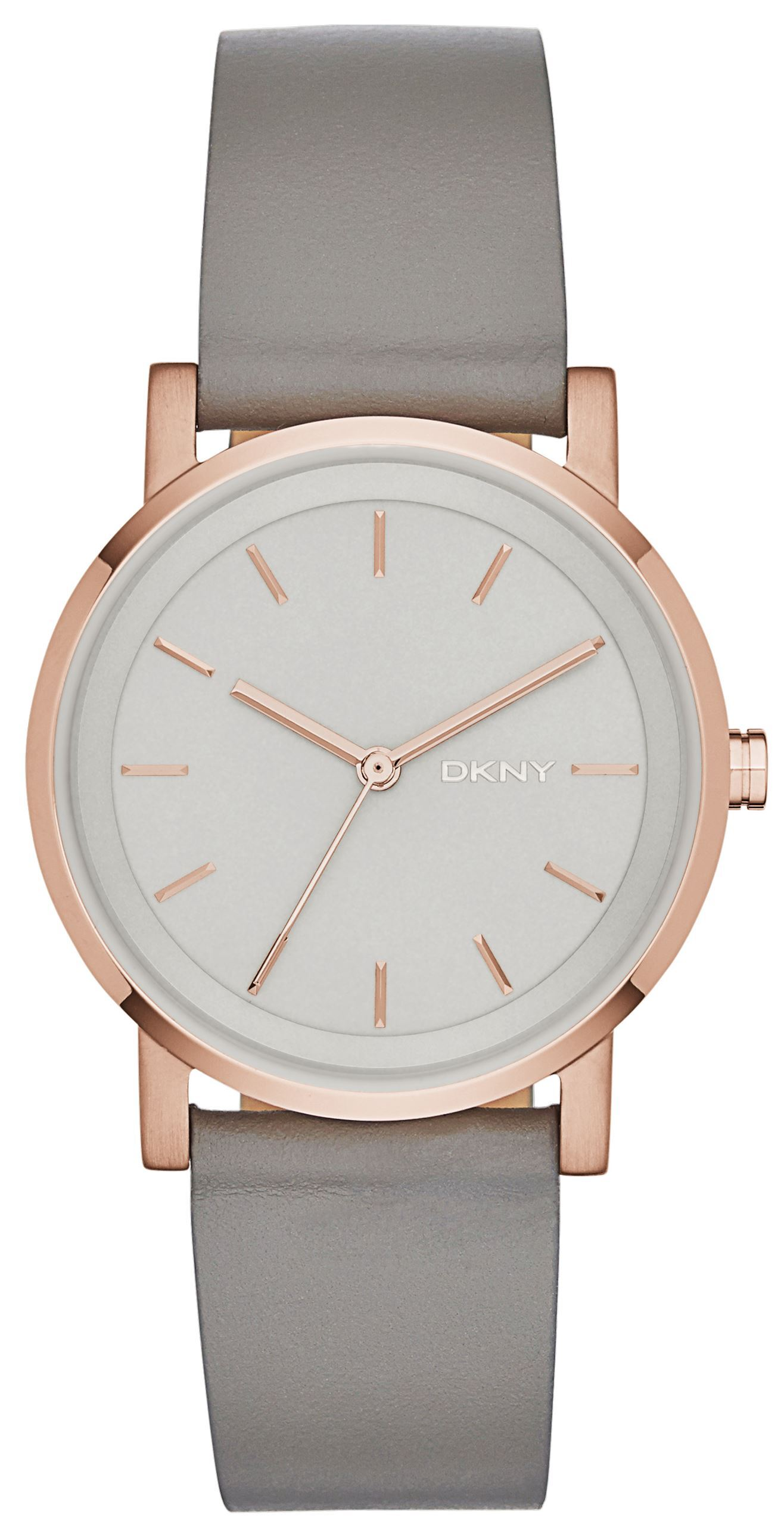 DKNY Dress Dameklokke NY2341 Grå/Lær Ø34 mm - DKNY