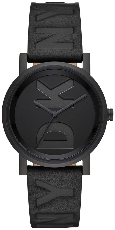 DKNY Soho Dameklokke NY2783 Sort/Lær Ø34 mm - DKNY
