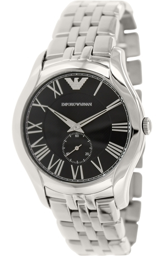 Emporio Armani Dress Herreklokke AR1706 Sort/Stål Ø43 mm - Emporio Armani