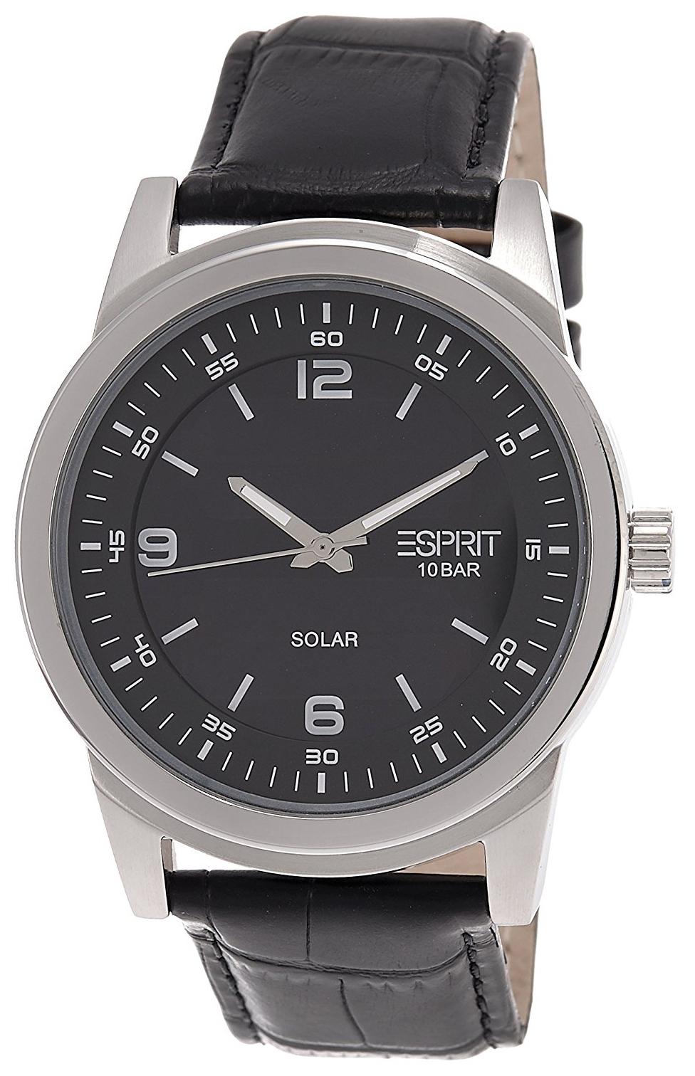 Esprit Dress Herreklokke ES105641001 Sort/Lær Ø42 mm - Esprit