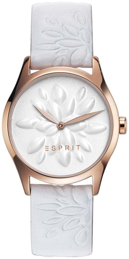 Esprit Dress Dameklokke ES108892001 Hvit/Lær Ø30 mm - Esprit