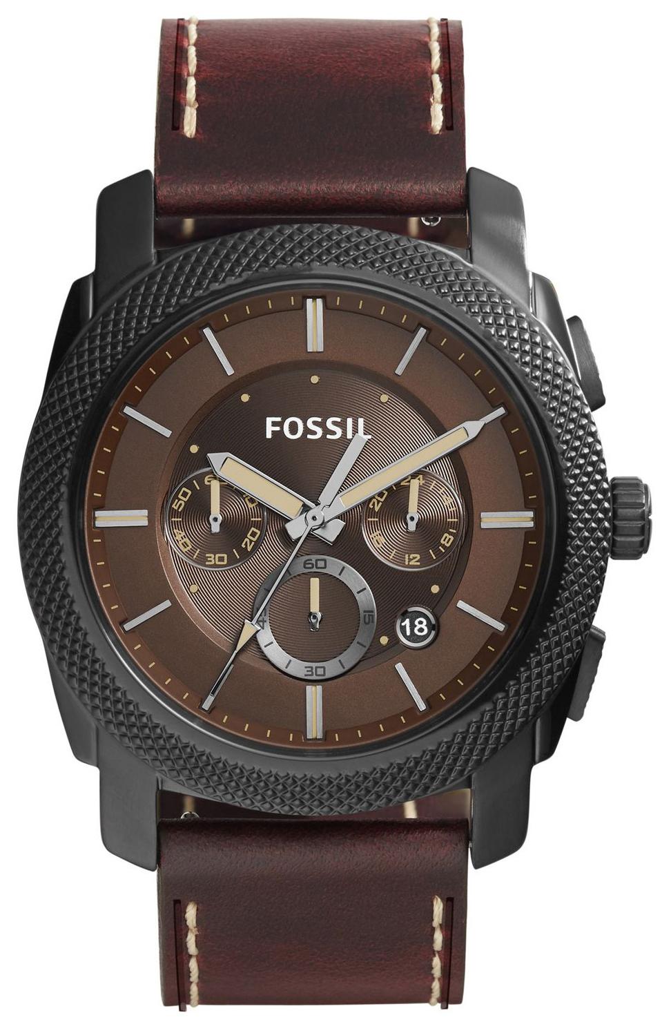 Fossil Machine Herreklokke FS5121 Brun/Lær Ø46 mm - Fossil
