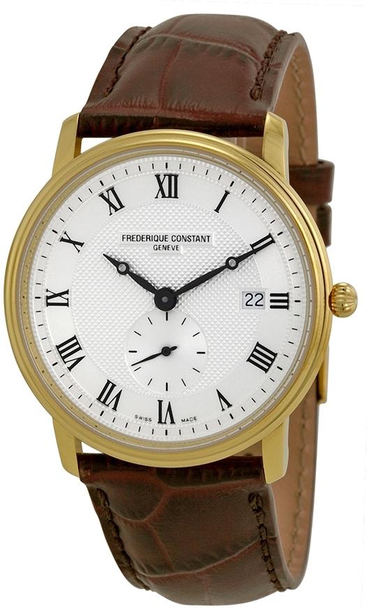 Frederique Constant Classics Herreklokke FC-245M5S5 Sølvfarget/Lær - Frederique Constant