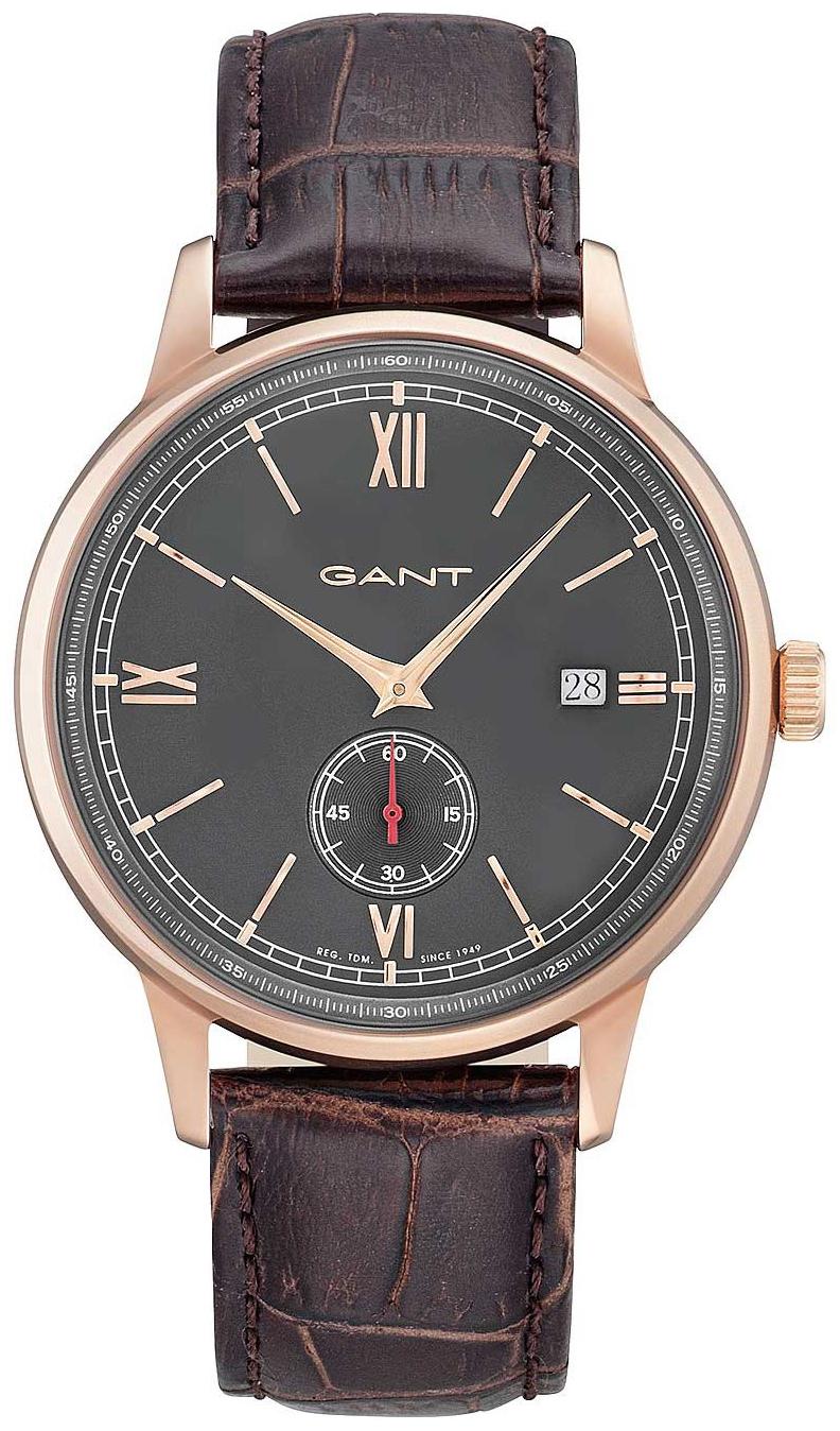 Gant Freeport Herreklokke GT023003 Grå/Lær Ø42 mm - Gant