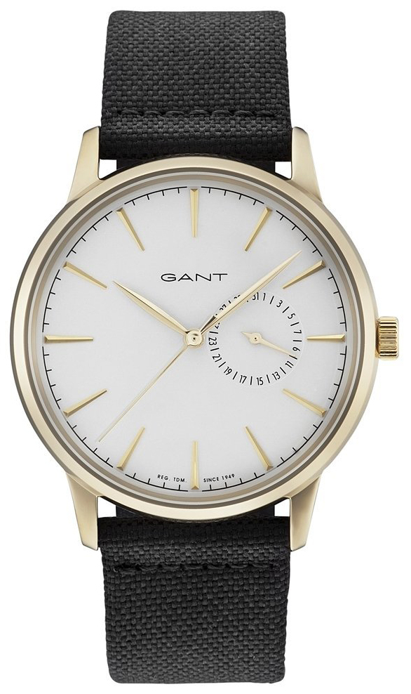 Gant Stanford Herreklokke GT048005 Hvit/Lær Ø42 mm - Gant