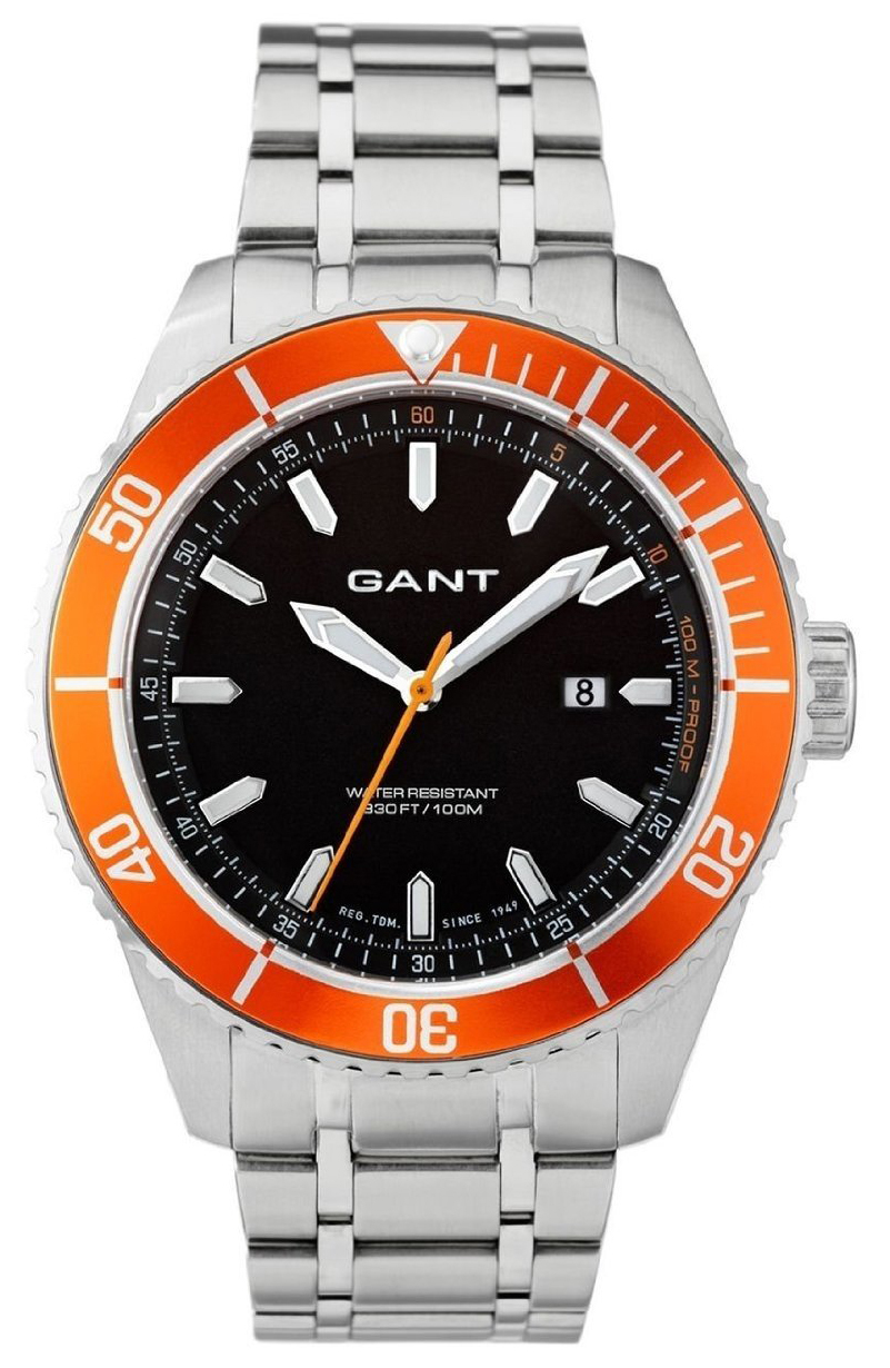 Gant Seabrook Herreklokke W70392 Sort/Stål Ø45 mm - Gant