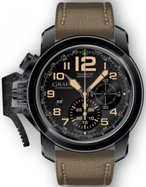 Graham Chronofighter Oversize Herreklokke 2CCAU.B02A Sort/Tekstil - Graham