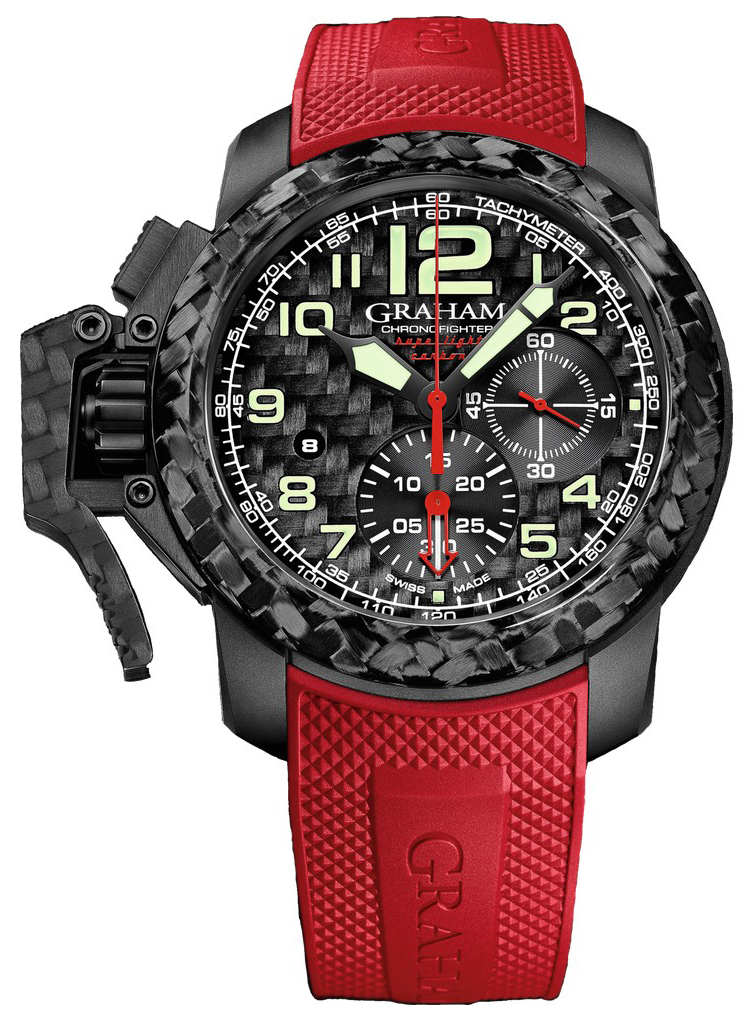 Graham Chronofighter Herreklokke 2CCBK.B11A.K95K Sort/Gummi Ø47 mm - Graham