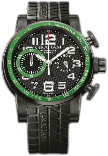 Graham Silverstone Herreklokke 2SAAB.B02A Sort/Gummi Ø44 mm - Graham