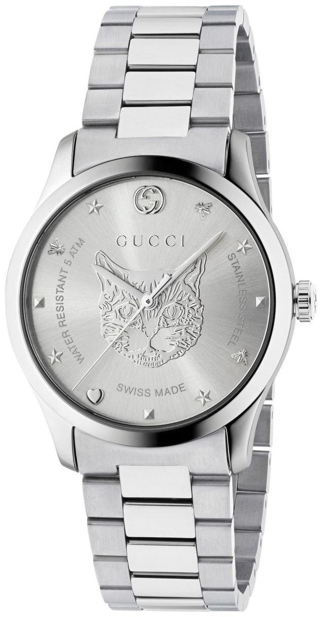 Gucci G-Timeless YA1264095 Sølvfarget/Stål Ø38 mm - Gucci